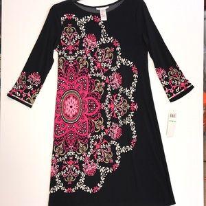 London Times 8 dress pink black